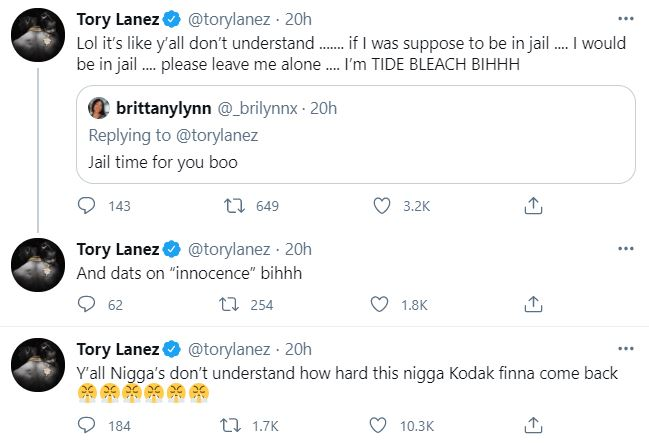 Tory Lanez, Megan Thee STallion, Jail, Twitter, Innocent
